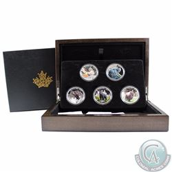 2016-2017 Canada $20 Majestic Animals Fine Silver 5-coin Set (TAX Exempt)