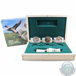 2013-2014 $10 Ducks of Canada 3-coin Fine Silver Deluxe Box Set with Duck Caller (TAX Exempt)