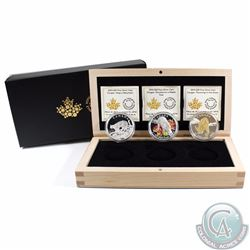 3x 2014 $20 Fine Silver Cougar Series Coins in Deluxe Display Box. You will receive the Cougar Perch