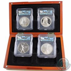 2006-P USA Franklin First Strike ICG Certified MS-70 4-coin Set in Deluxe Display Case. You will rec
