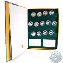 2001-2003 Festivals of Canada 50-cent 13-coin Sterling Silver Proof Coin Set (Some capsules may be l