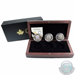 2016 Canada $25 Sculptural Art of Parliament Fine Silver 3-coin Set in Deluxe Display Box. You will