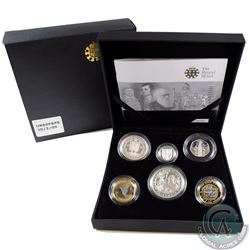 2009 United Kingdom Family Silver Proof Collection 6-coin Set (Coins are toned)