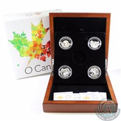 2014 Canada $25 O Canada Fine Silver Set in Deluxe Display Case. You will receive the first 4 coins