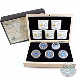 2014-2015 Canada $20 Great Lakes 5-coin Set in Deluxe Display Case (TAX Exempt)