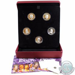 2008-2009 Canada $15 Vignettes of Royalty 5-Coin Sterling Silver Set. 4 out of 5 COAs are included (