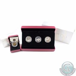 2013 Canada $20 Birth of the Royal Baby Fine Silver 3-coin Set & 2013 $5 Royal Infant Toys Fine Silv