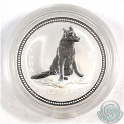 2006 Australia $2 Year of the Dog 2oz Fine Silver Coin in Capsule. RARE coin with mintage of only 17
