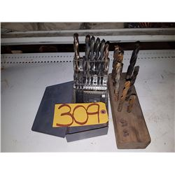 Incomplete Drill Set with Wood Stand