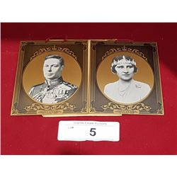 TWO TIN TYPE PHOTOGRAPHS OF ROYALTY C.1939,