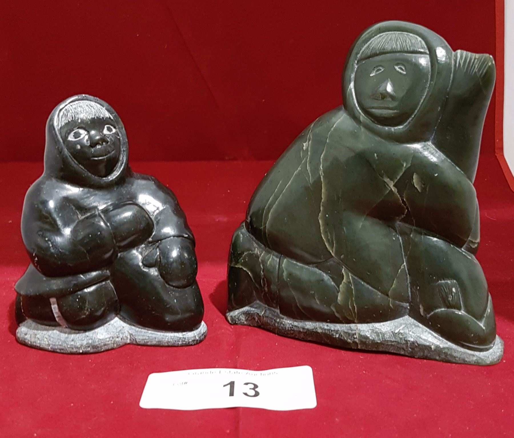 Two inuit soapstone carvings