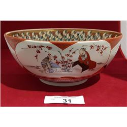 VINTAGE ASIAN HAND PAINTED BOWL