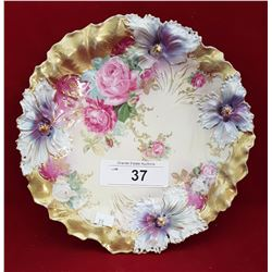RS PRUSSIA FLORAL PLATE