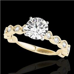1.5 CTW H-SI/I Certified Diamond Solitaire Ring 10K Yellow Gold - REF-163T6X - 34882