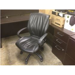 BLACK 'LEATHER' MIDBACK EXECUTIVE CHAIR
