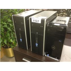 LOT OF 3 ASSORTED DESKTOP COMPUTERS