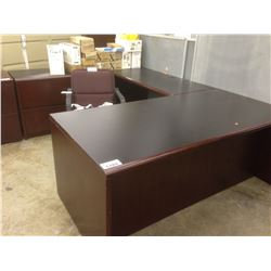 MAHOGANY U-SHAPED EXECUTIVE OFFICE SUITE