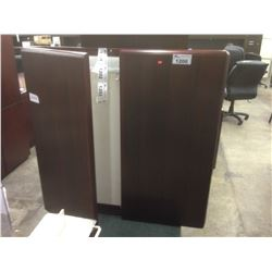 MAHOGANY WALL MOUNT 2 DOOR PRESENTATION CABINET
