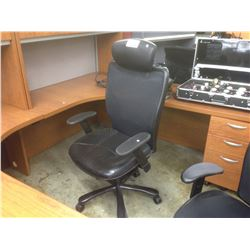 BLACK MESHBACK HIBACK ERGONOMIC TASK CHAIR WITH HEADREST