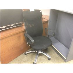 BLACK MESHBACK HIBACK ERGONOMIC TASK CHAIR
