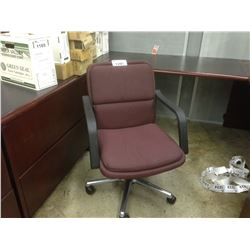 BURGUNDY TILTING OFFICE CHAIR