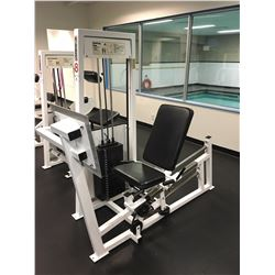 APEX SEATED LEG PRESS MACHINE, WITH 400 LBS WEIGHT