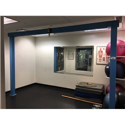 MODULAR STEEL AND WOOD FRAME EXERCISE EQUIPMENT MOUNT