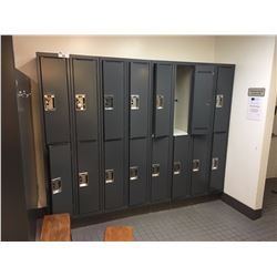 20 HALF HEIGHT GYM LOCKERS IN MEN'S CHANGE ROOM