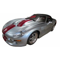 1999 Shelby Series 1 Convertible; Standard Transmission; Silver with Red Racing Stripes and Black Le