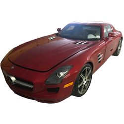 2011 Mercedes-Benz SLS AMG Coupe with Butterfly Doors; 6.3L V8 SFI DOHC 32V; Auto Transmission; Gaso