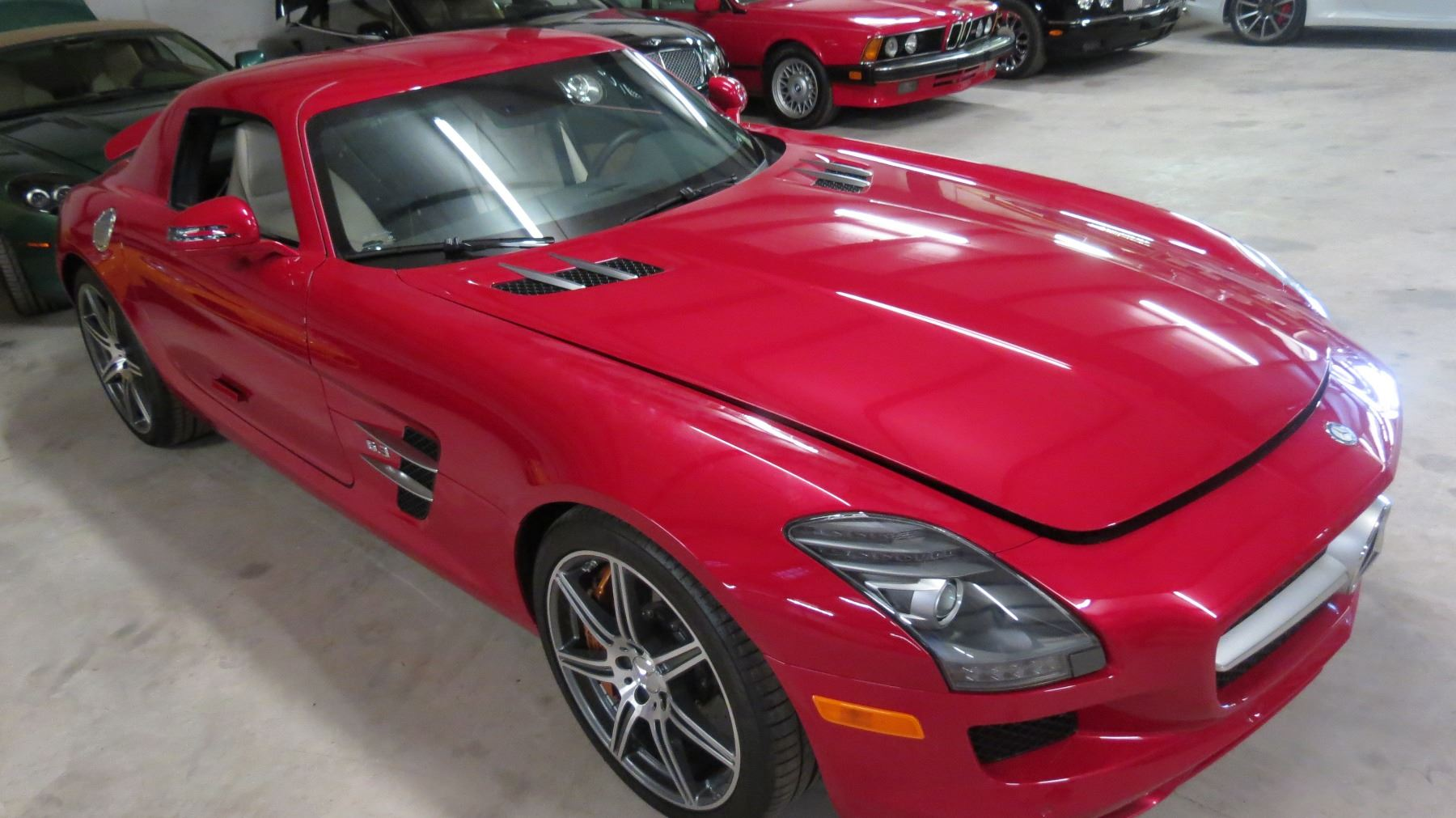 2011 mercedes benz sls amg coupe with butterfly doors 6 for Mercedes benz amg 6 3 liter v8 price