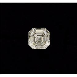 DIAMOND:  [1] Square Emerald Cut Diamond, 8.61 x 8.55 x 5.70mms = 3.52 carats, G color, IF (internal