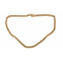 NECKLACE:  [1] 10 karat yellow gold Cuban link chain necklace; 12.20mms x 30 1/2''s; 301.11 grams