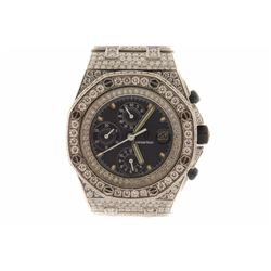 WATCH:  [1] Stainless steel gents Audemars Piguet Royal Oak Offshore Chronograph Automatic watch wit