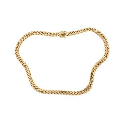 CHAIN:  [1] 10KYG Cuban link chain necklace; 31'' 406.2 grams