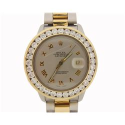 WATCH:  [1] Stainless steel and 18 karat yellow gold gents Rolex Tudor Prince-Auto watch with an aft