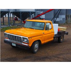 1979 Ford F250 Custom Yellow Service Truck