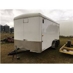 Enclosed 2010 H And H Trailer, Tandem Axel, 14'