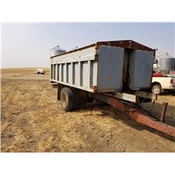 350 Bu Single Axel, Hoist End Dump, Pintle Hitch, Grain Trailer