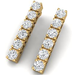 6 CTW Certified SI/I Diamond Earrings 18K Yellow Gold - REF-450N2Y - 39922