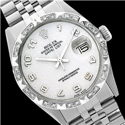 Rolex Ladies Stainless Steel, Arabic Dial with Pyrimid Diam Bezel, Saph Crystal  - REF-368F7M