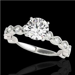 1.75 CTW H-SI/I Certified Diamond Solitaire Ring 10K White Gold - REF-200H2W - 34889