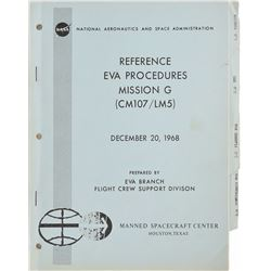 Apollo 11 EVA Reference Procedures for Mission G Manual