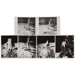 Apollo 11 Set of (6) Original Vintage Photographs