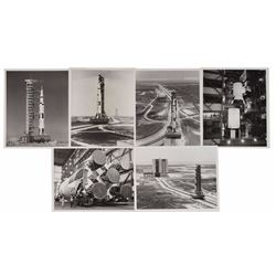 Apollo 11 Saturn V Set of (6) Original Vintage Photographs