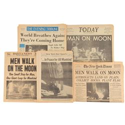 Apollo 11 Collection of Newspapers and Magazines
