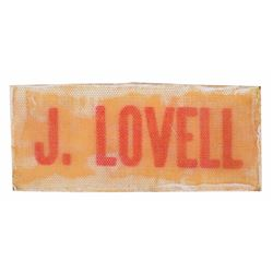 Apollo 13: James Lovell's Training-Used Cryopack Velcro Name Tag