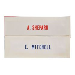 Apollo 14: Shepard and Mitchell Pair of Name Tags