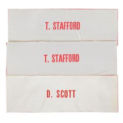 Apollo 10 and 15 Set of (3) Scott and Stafford Name Tags