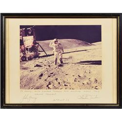 Apollo 16: Young and Duke Signed Photograph